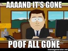 Poof it's gone meme