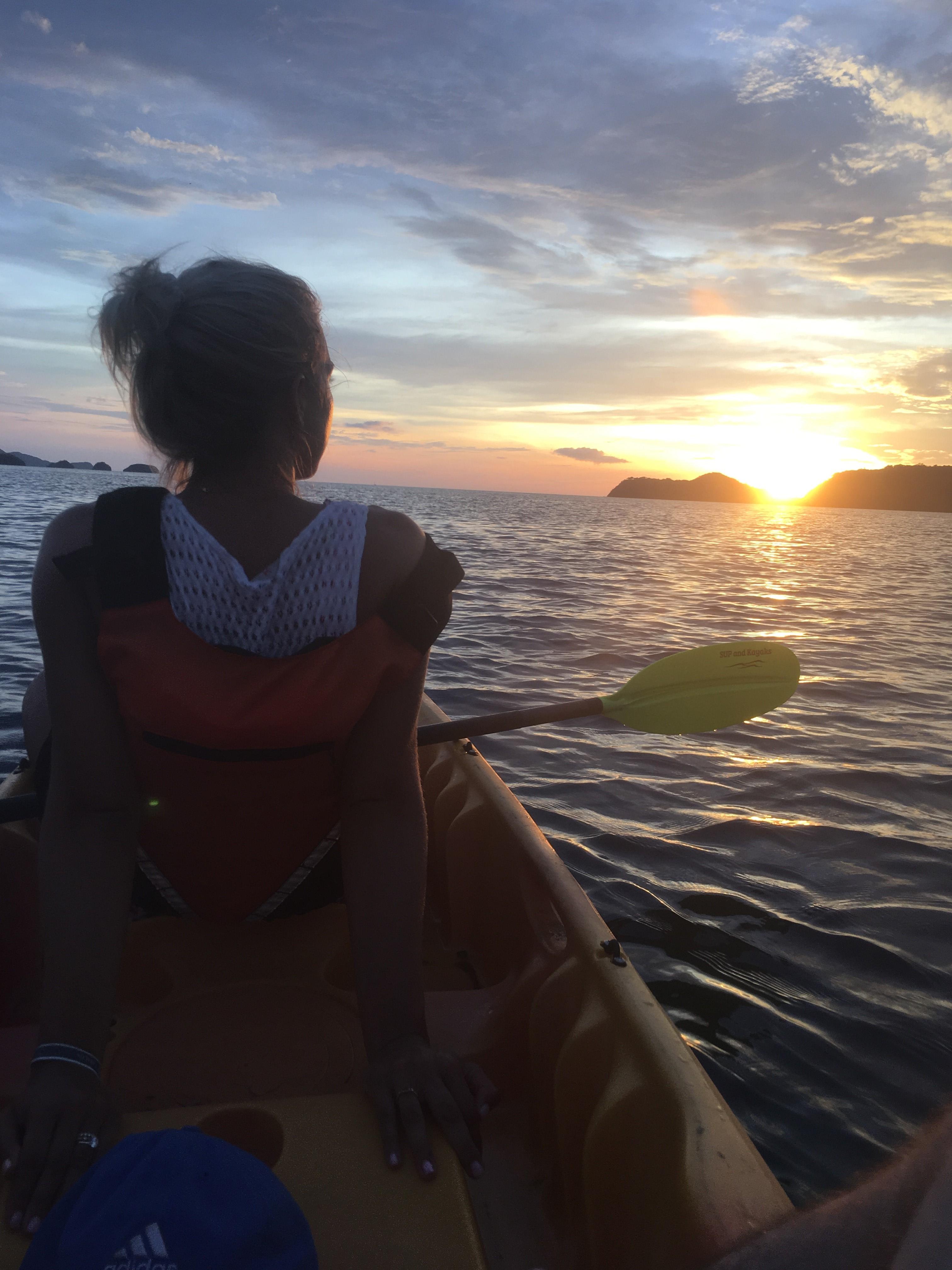 Emily Audibert kayaking