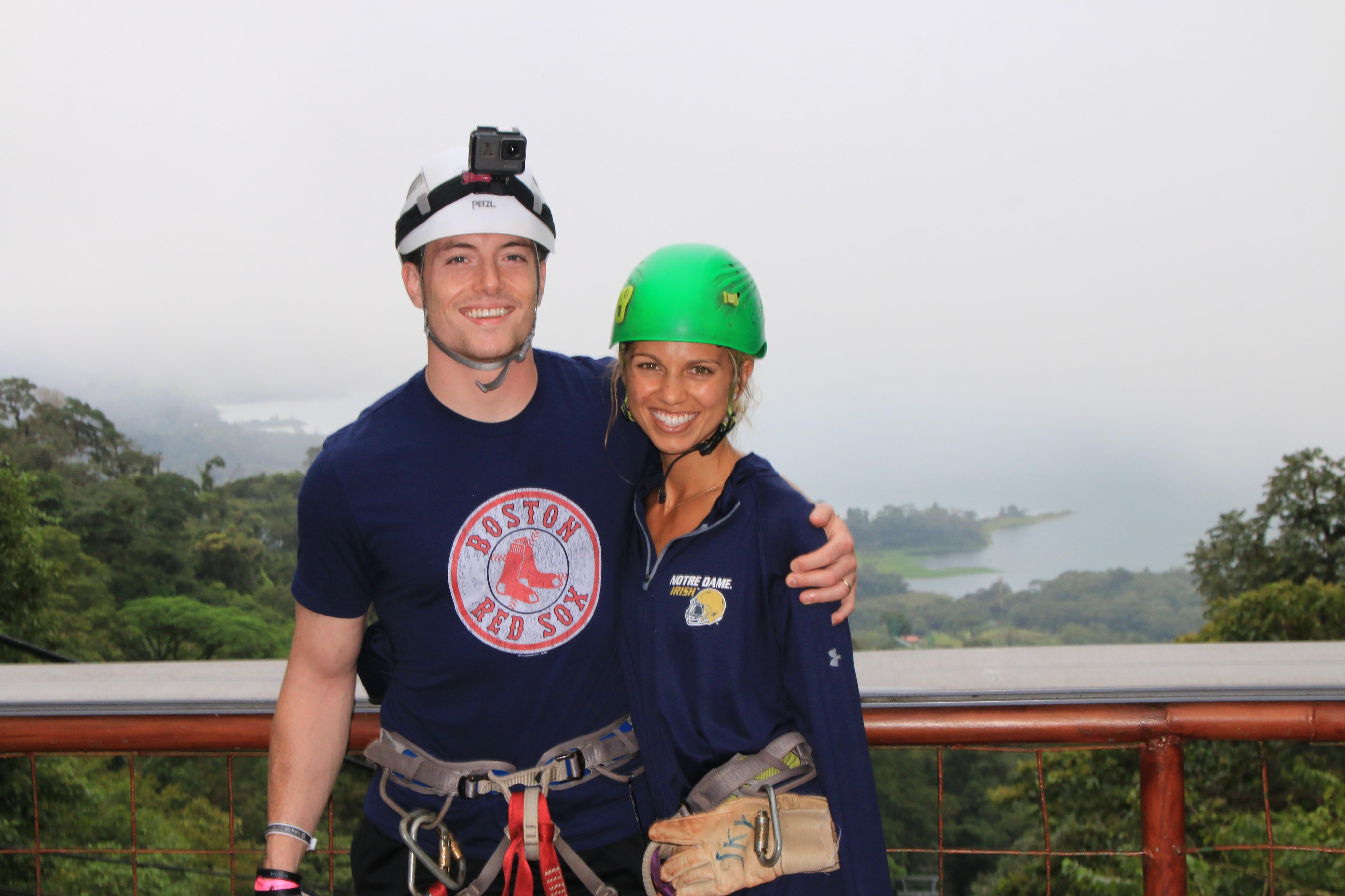 Emily and Dan hiking in Costa Rica