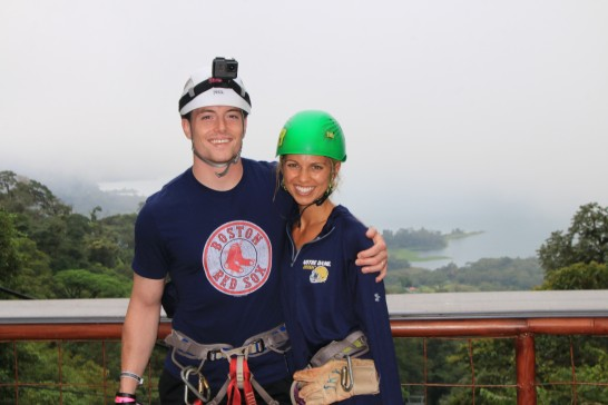 Emily and Dan hiking in Costa Rica