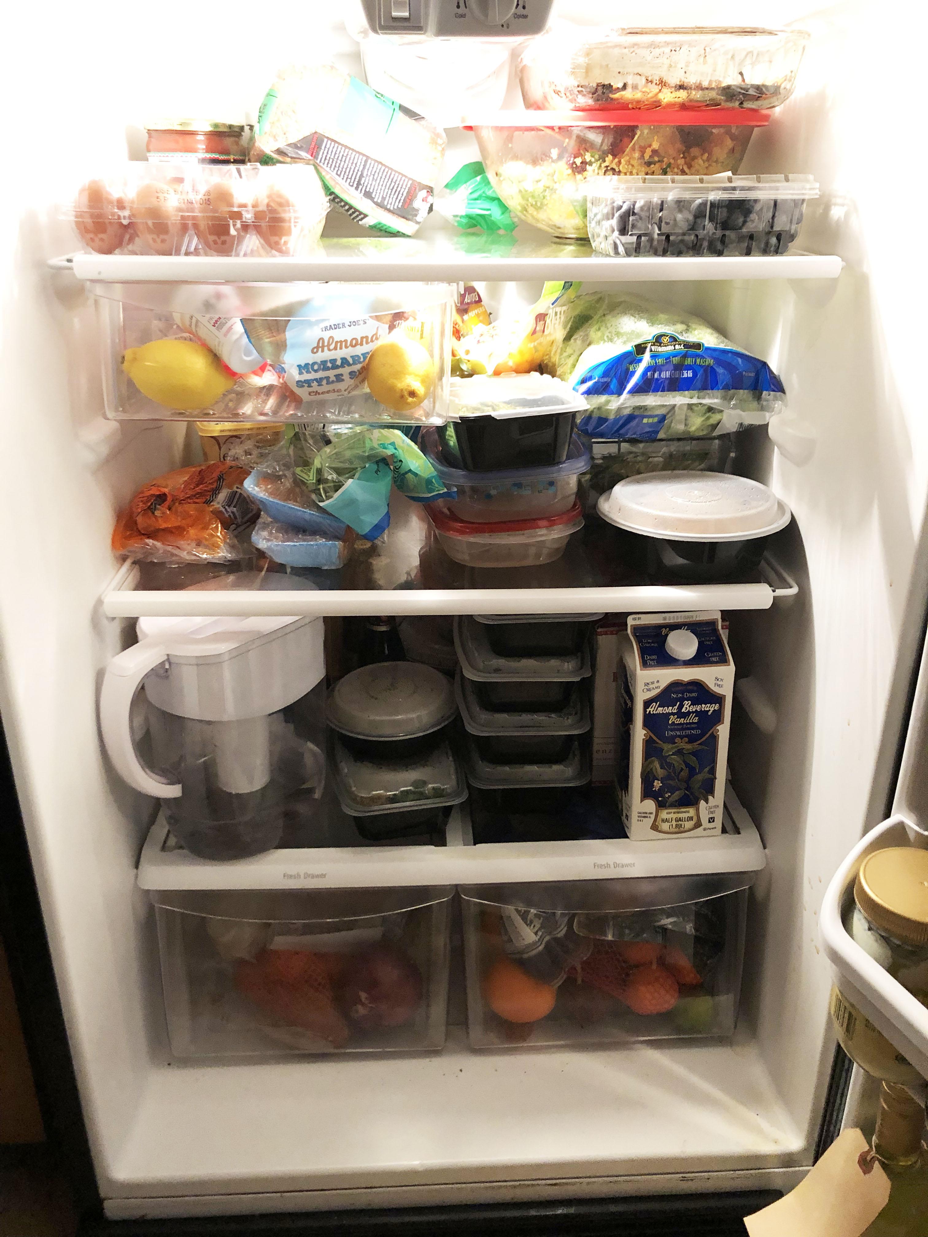 fridge full of healthy foods